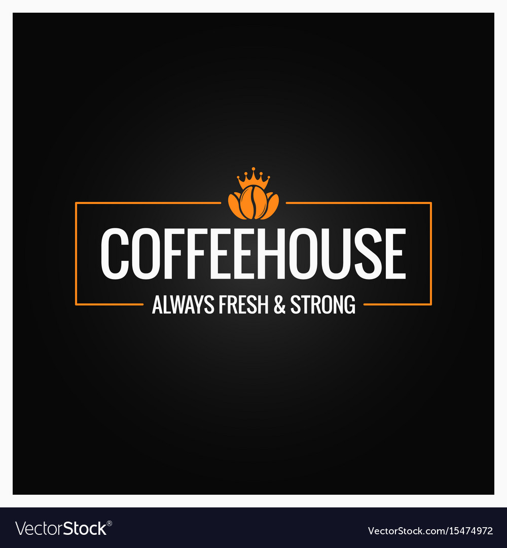 Coffee beans logo design background vector image
