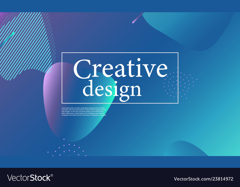 Fluid shape composition wavy abstract cover design