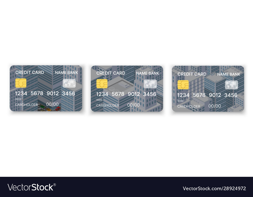 Pattern credit card in urban modern style abstract