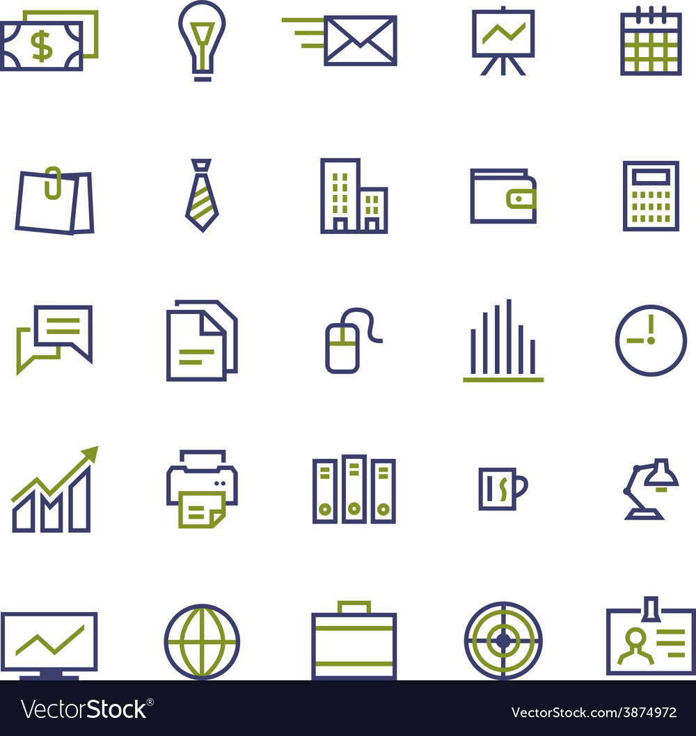 Set of business icons for internet marketing and vector image