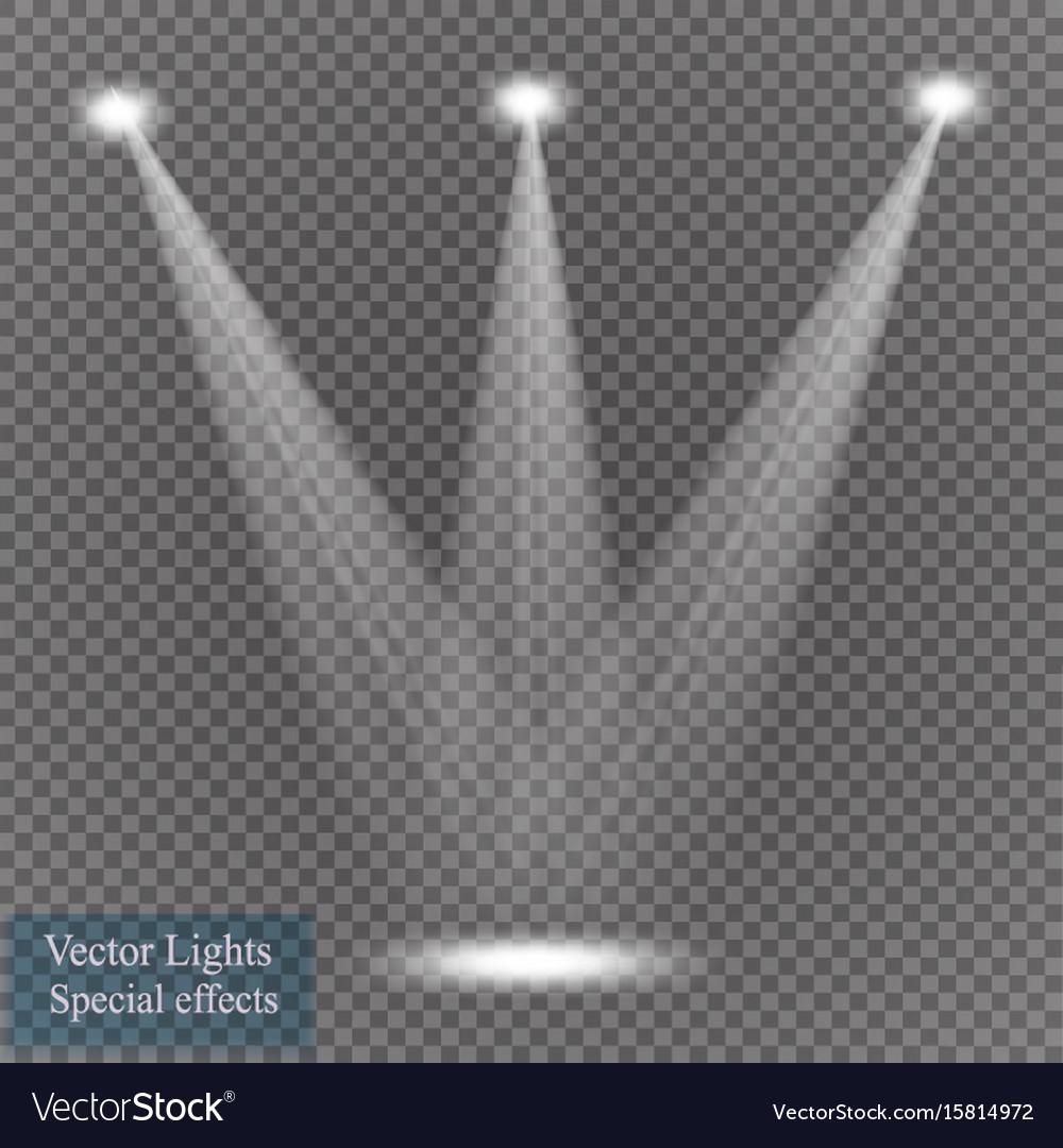 Spotlight on transparent background vector image