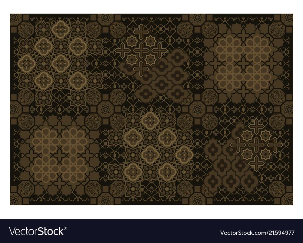 Eastern arabic rug mat ornament pattern