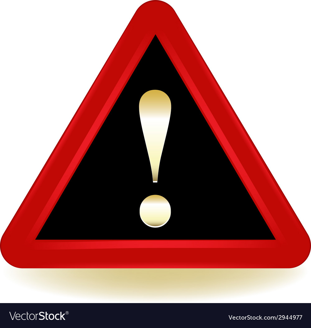 Exclamation Warning Sign vector image