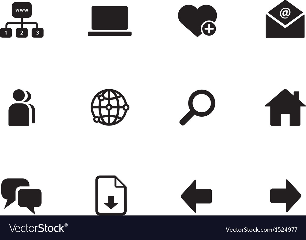 Network icons on white background