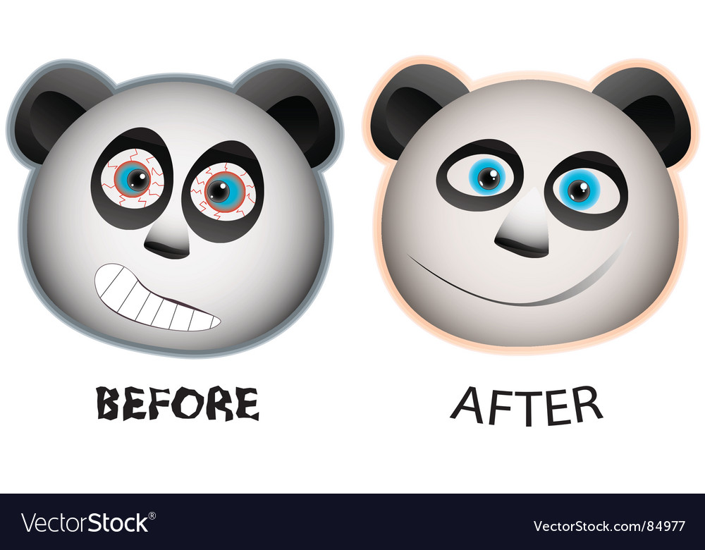 Panda faces vector image