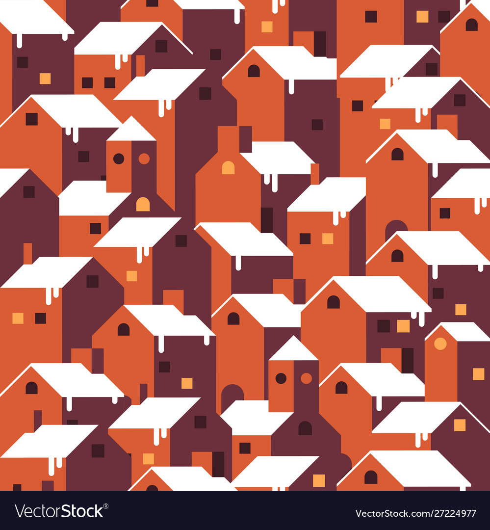 Seamless christmas winter pattern vector