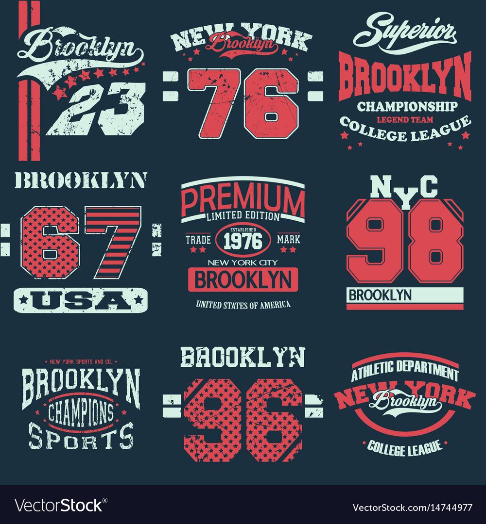 Set of 9 brooklyn