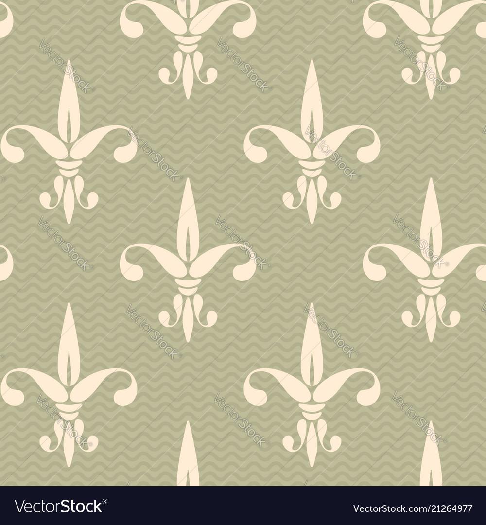 Vintage pattern fleur de lis