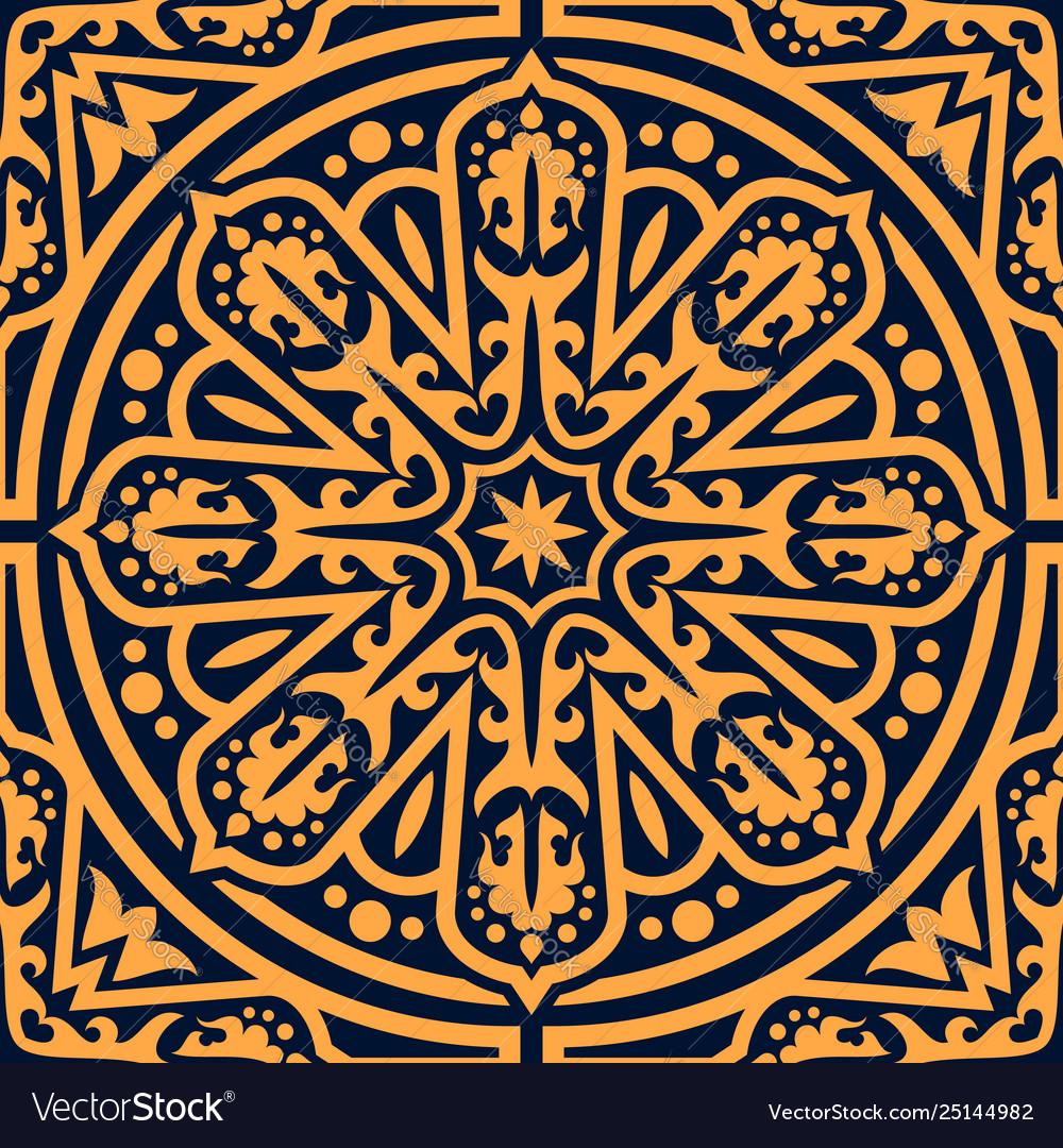Arabian traditional flourish seamless pattern
