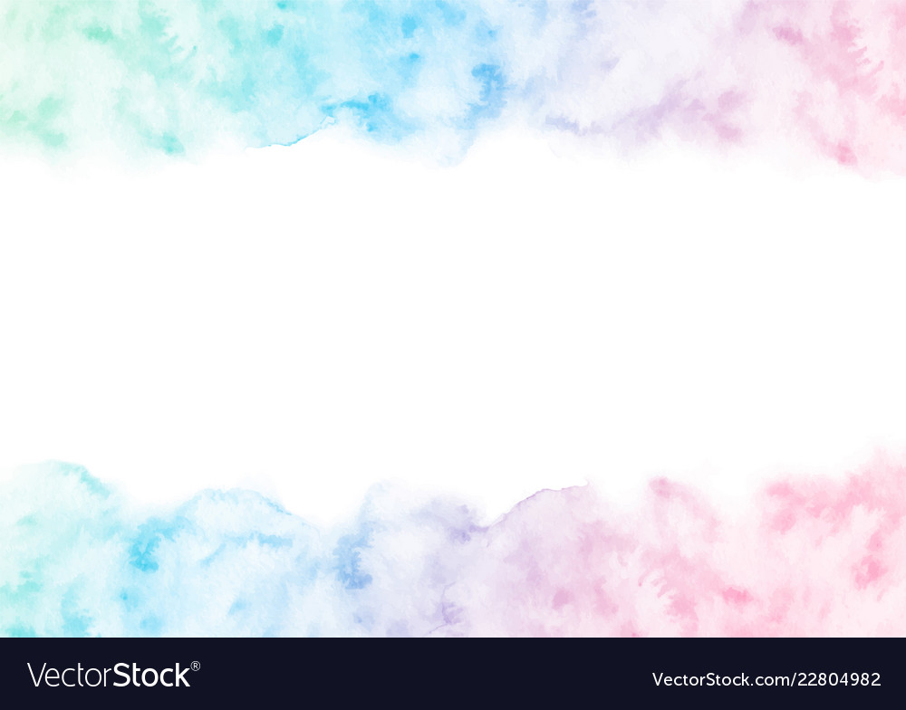 Hand painted colorful watercolor texture frame