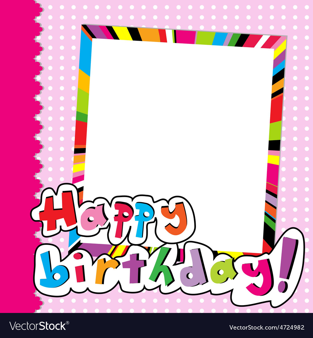 Happy Birthday Scrapbook For Baby Girl Royalty Free Vector