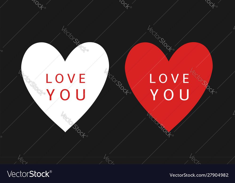 I love you heart symbols