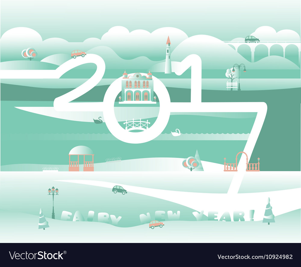 Merry xmas and happy new year greeting design