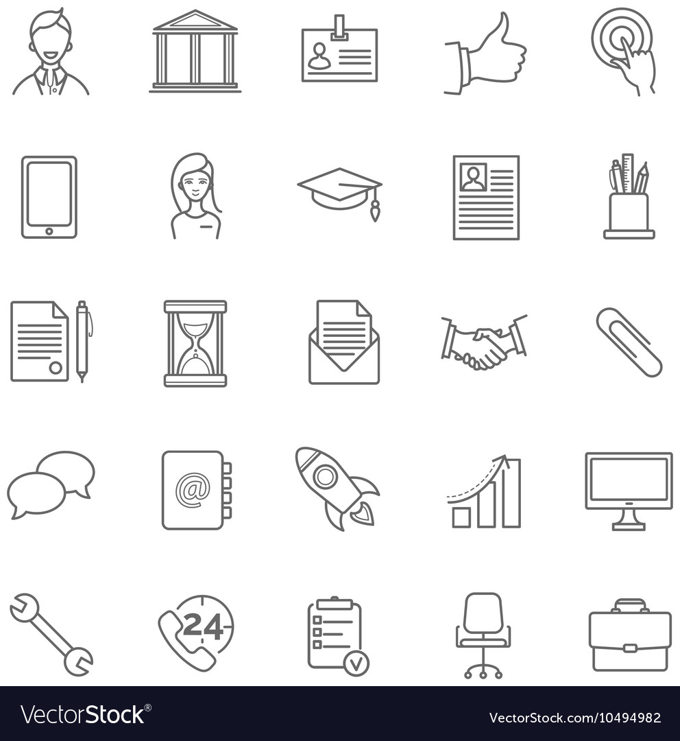 resume icons set royalty free vector image