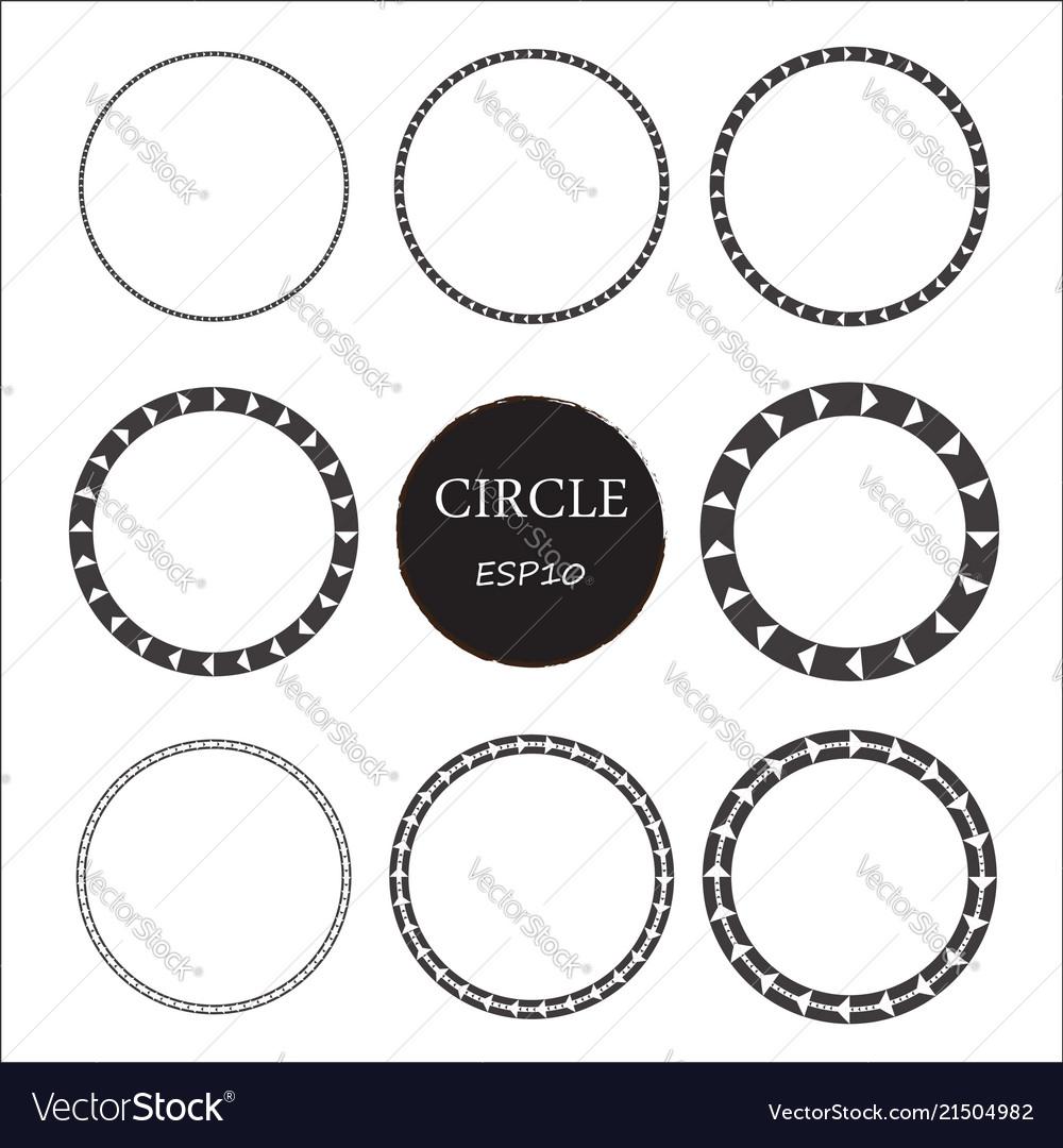 Set of hand drawn circles design elements