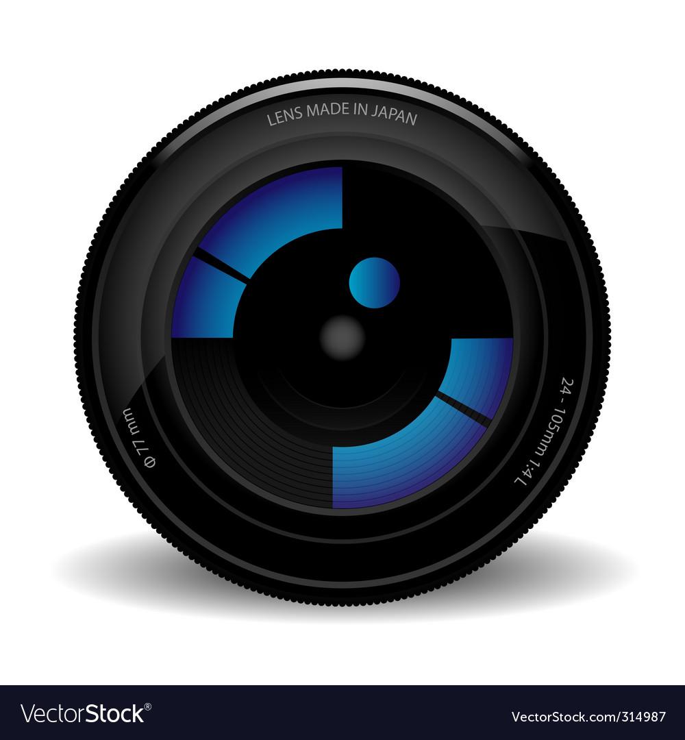 camera lens royalty free vector image vectorstock rh vectorstock com camera lens vector logo camera lens vector download