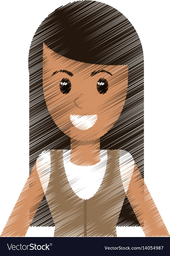 Drawing portrait woman avatar