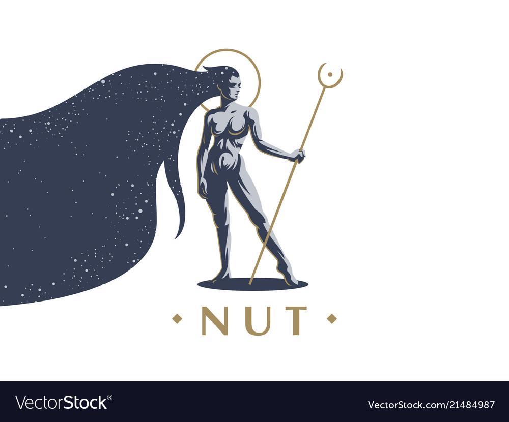 Egyptian Goddess Nut Royalty Free Vector Image