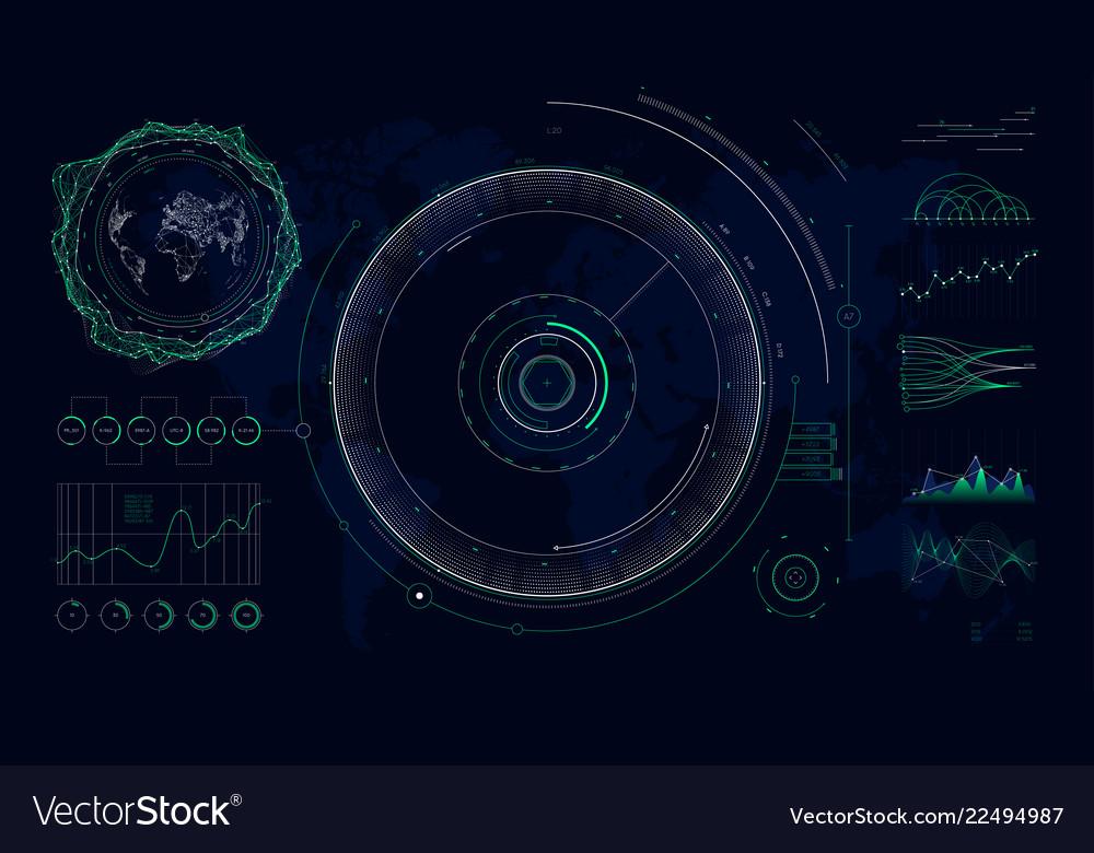 Futuristic user interface hud design graphs and