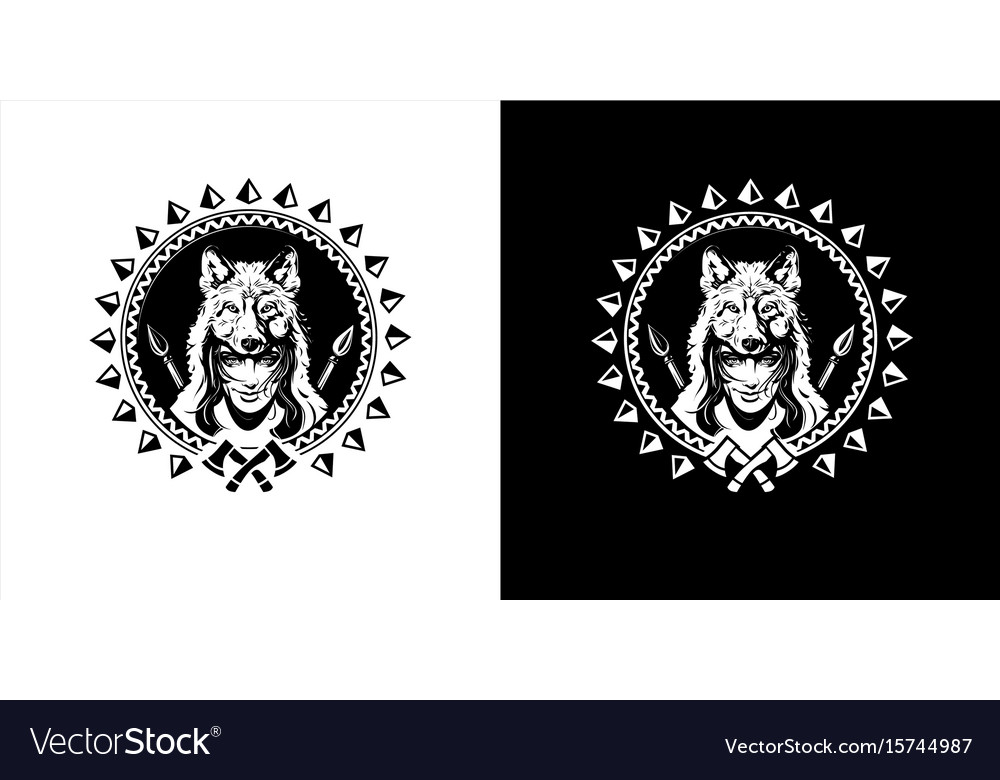 Girl with wolf on your head