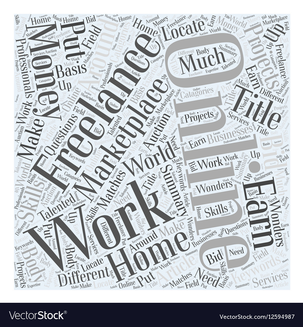 Online Freelance Work Marketplace Put your skills vector image