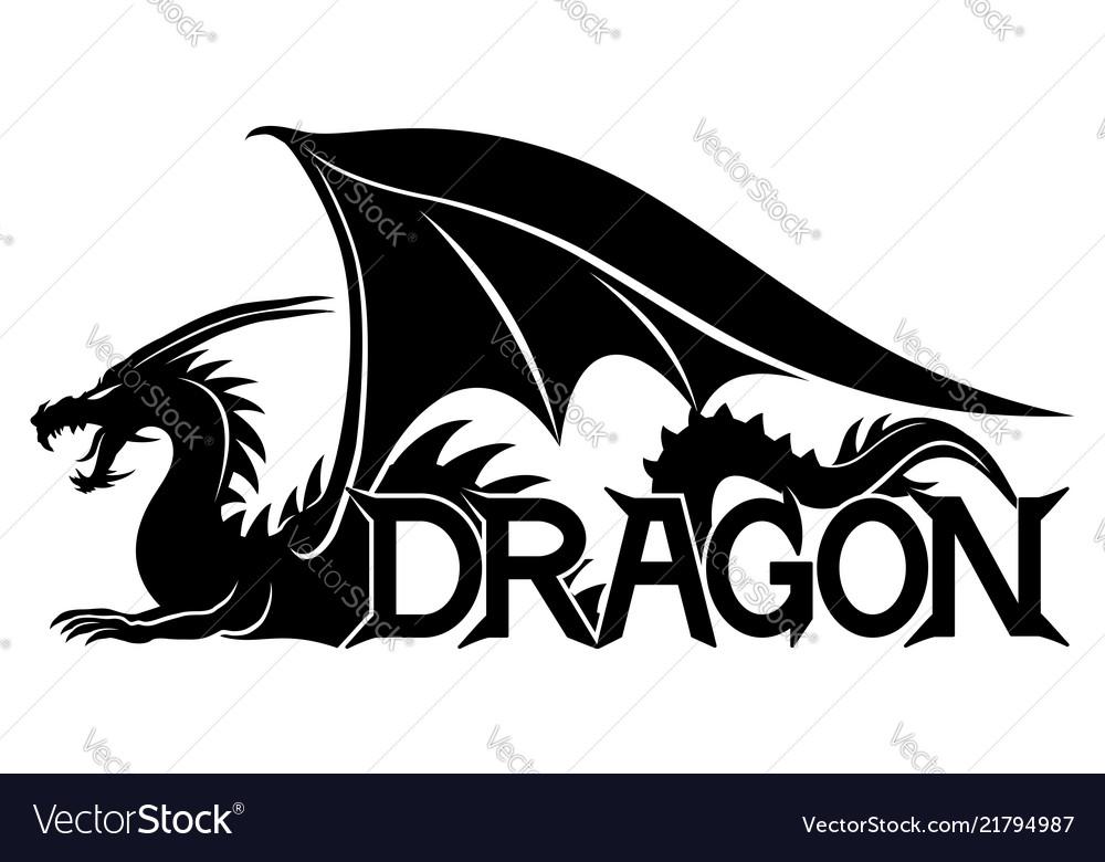 Sign a black dragon