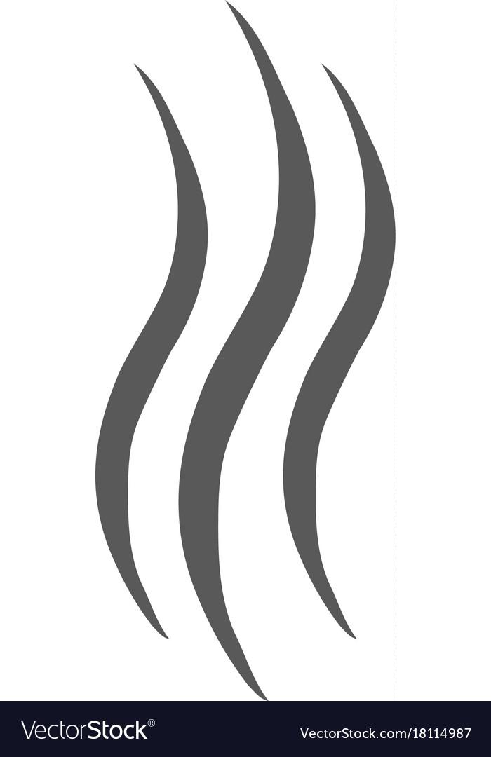 smoke steam icon simple vector image