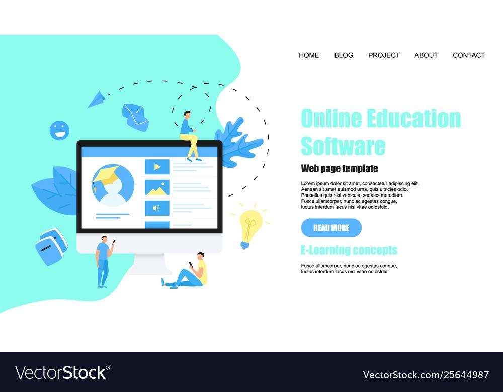 Webpage template online education app