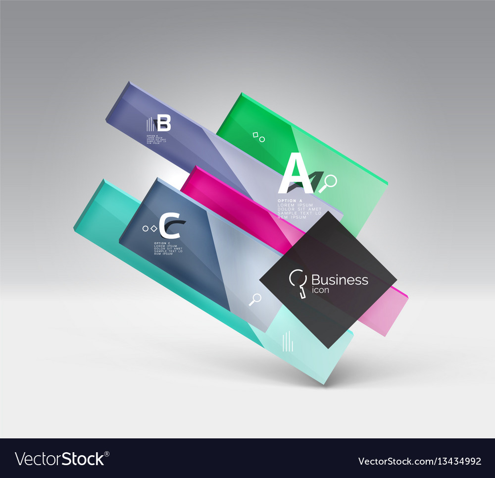3d geometric abstract background template
