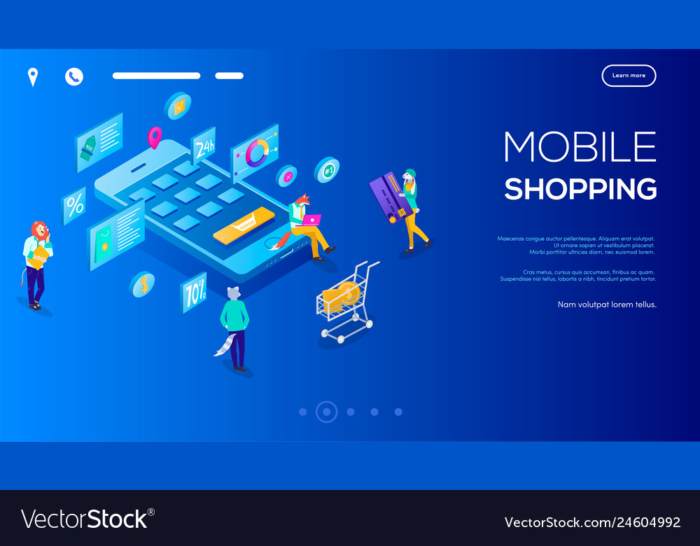 3d isometric character buying online on blue