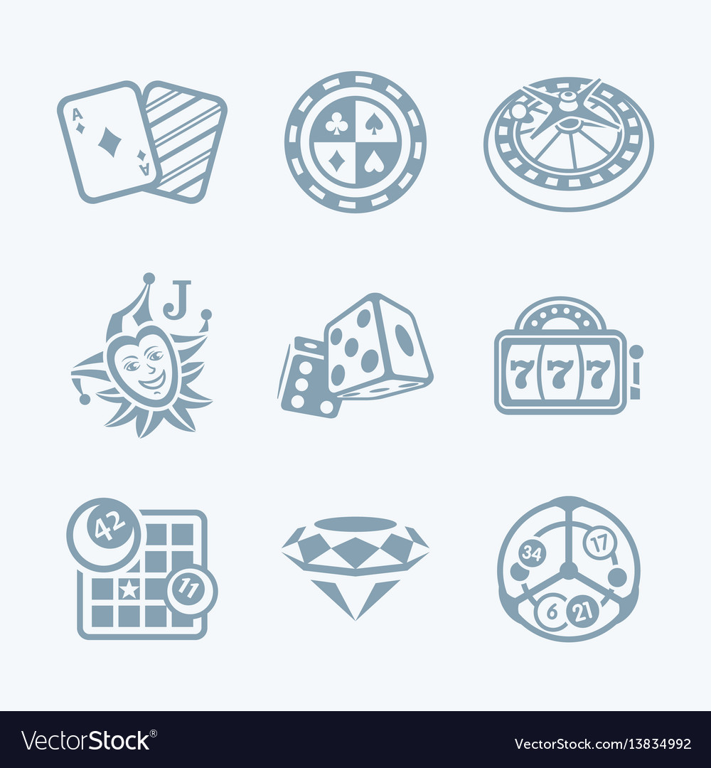 Casino games icons - tech series