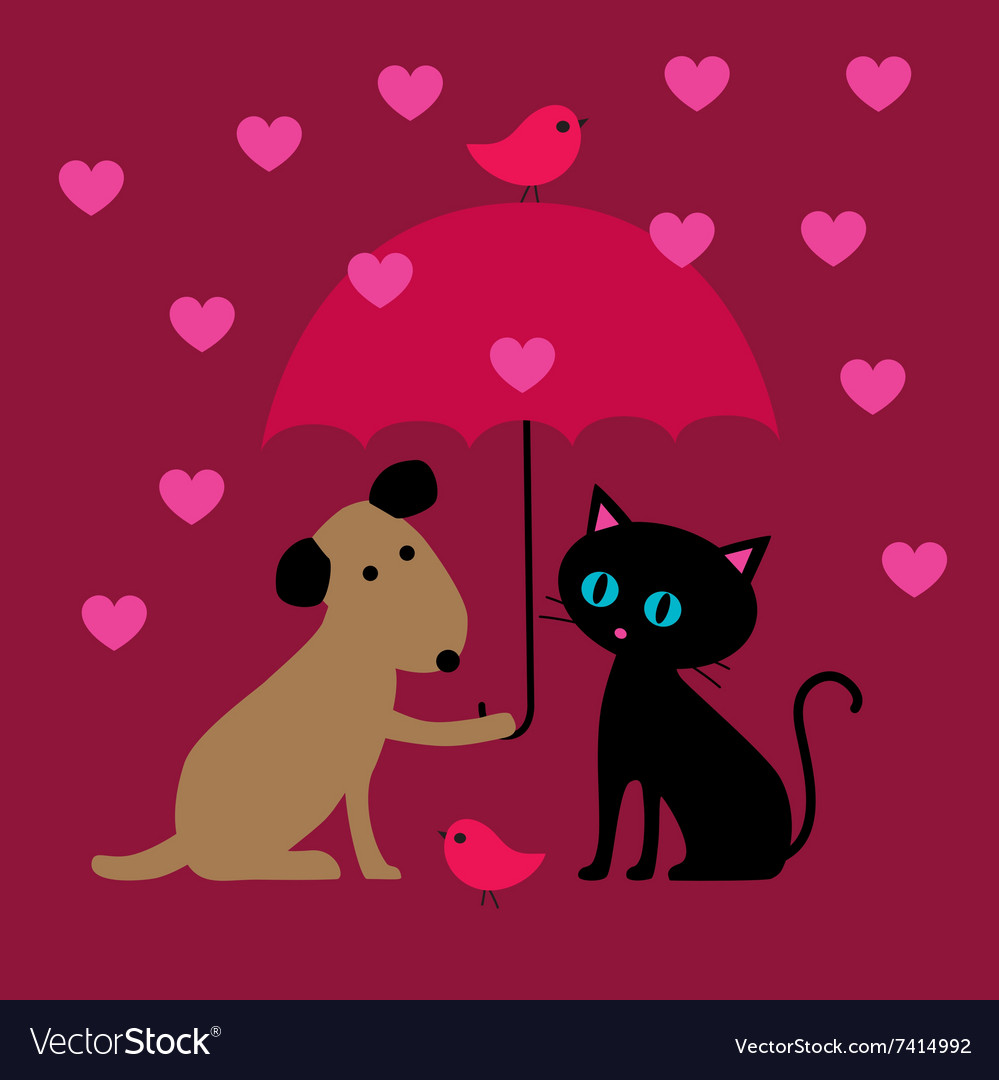 Cat and dog valentines