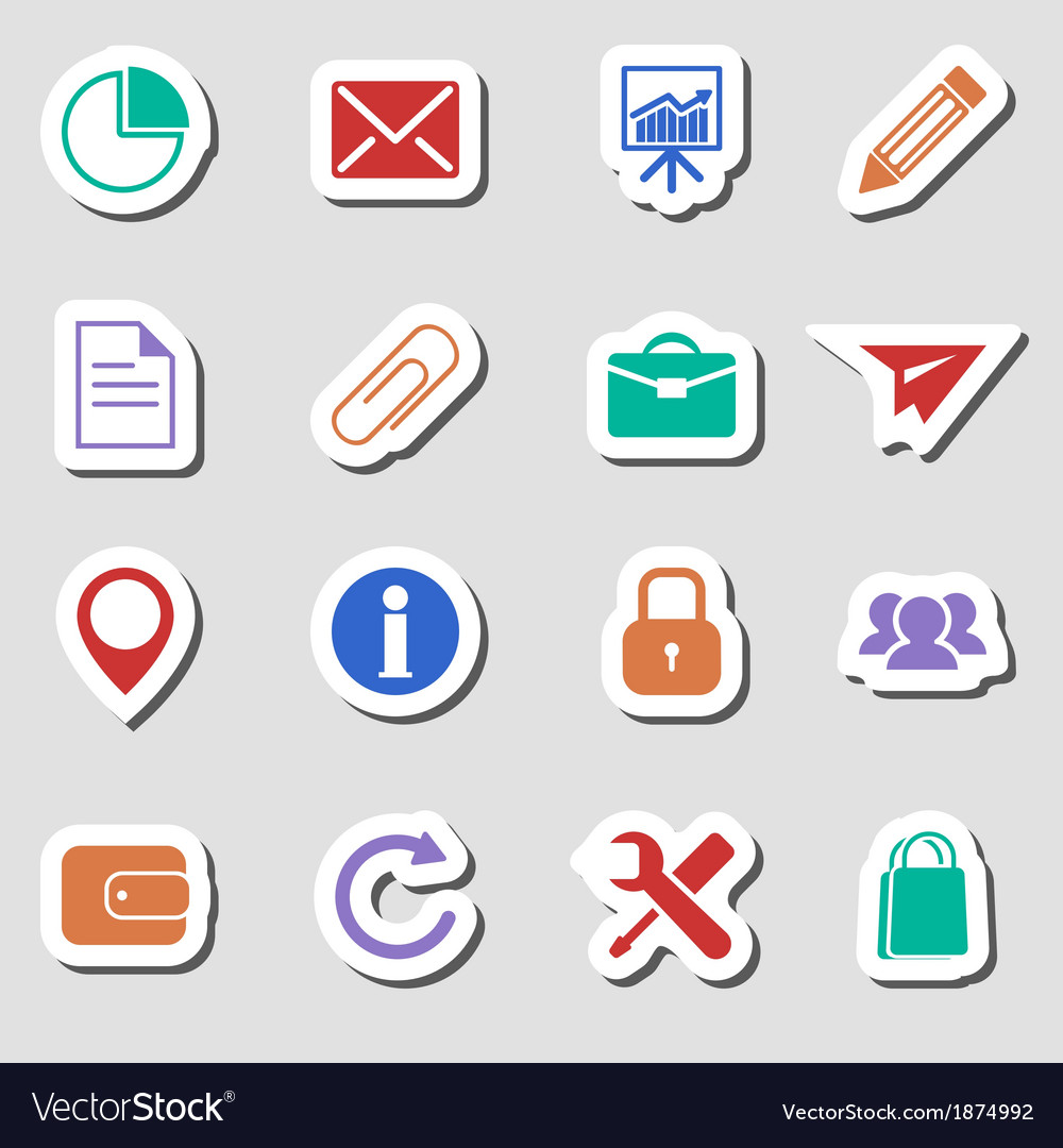 Color Business Icons as Labes