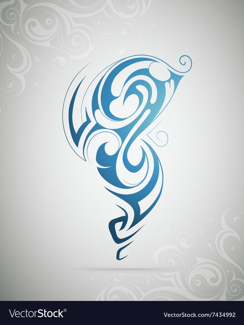 Design element as tattoo shape vector image