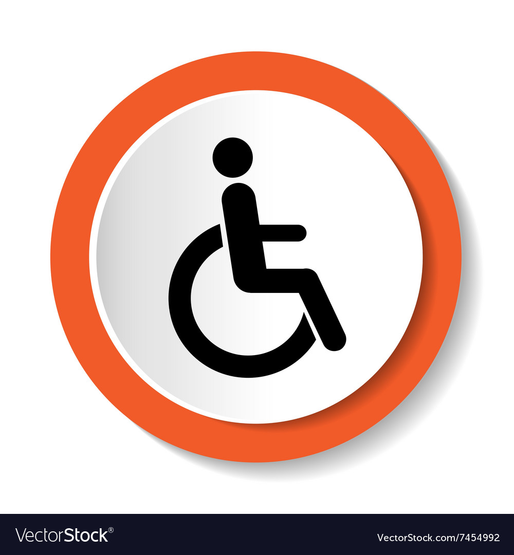 Disabled icon sign isolated on white