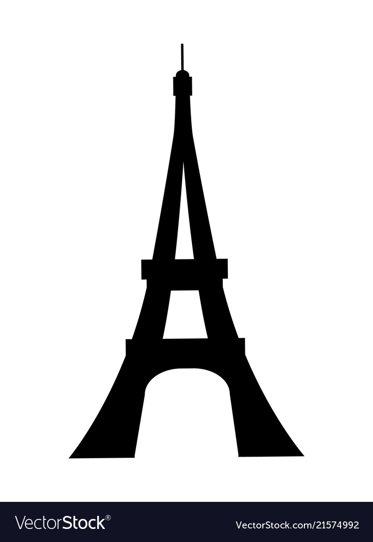 Eiffel tower french. France silhouette