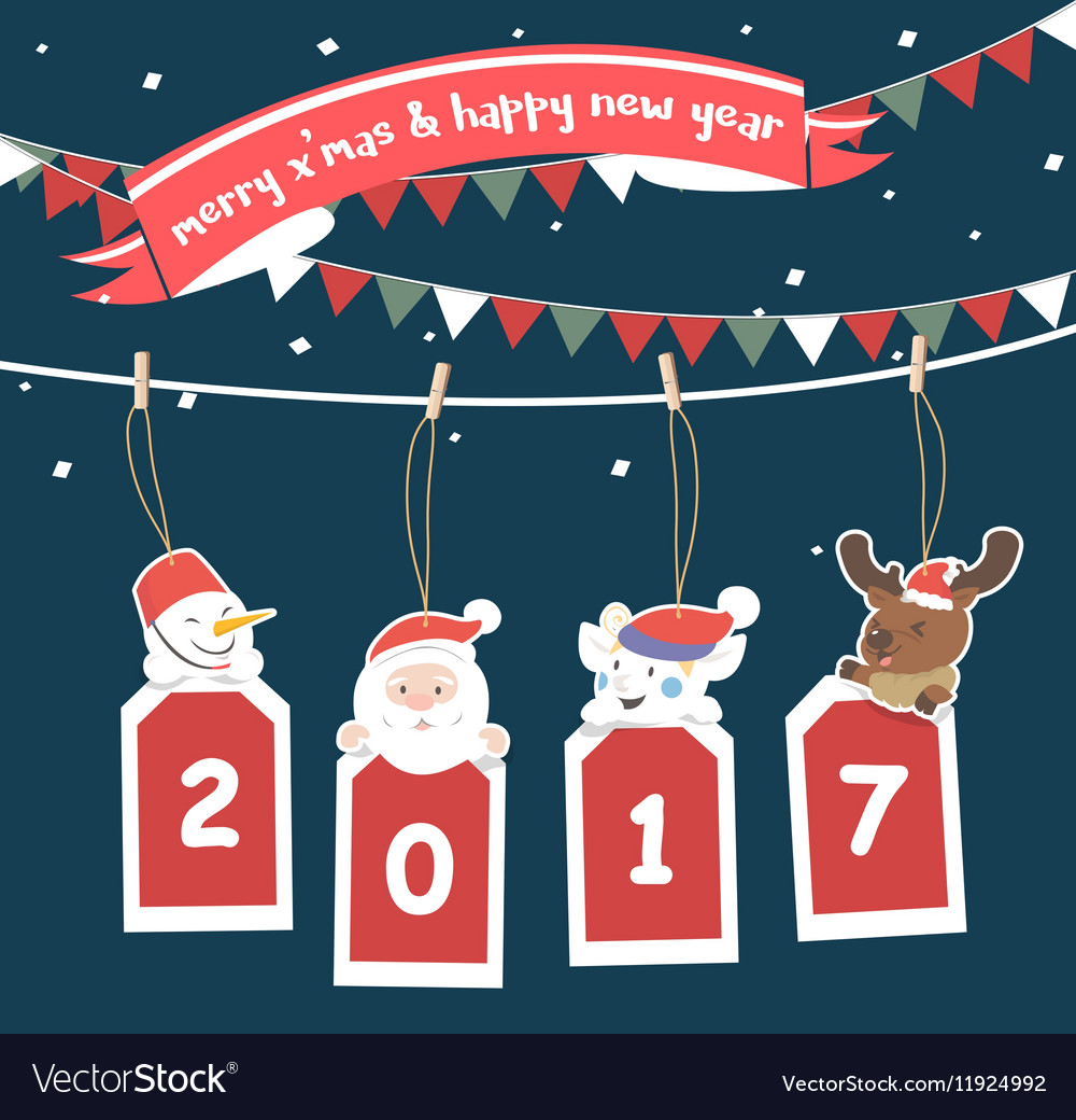 Merry Christmas greeting card 2017