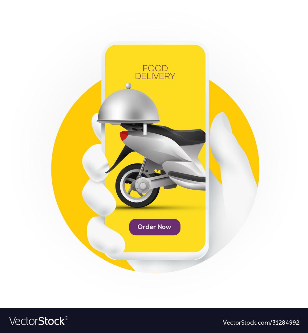 Online food order service banner concept