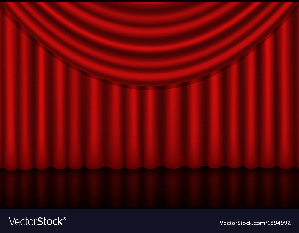 Red curtains background