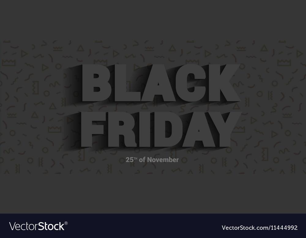 Restrained elegance banner for sales on Black vector image