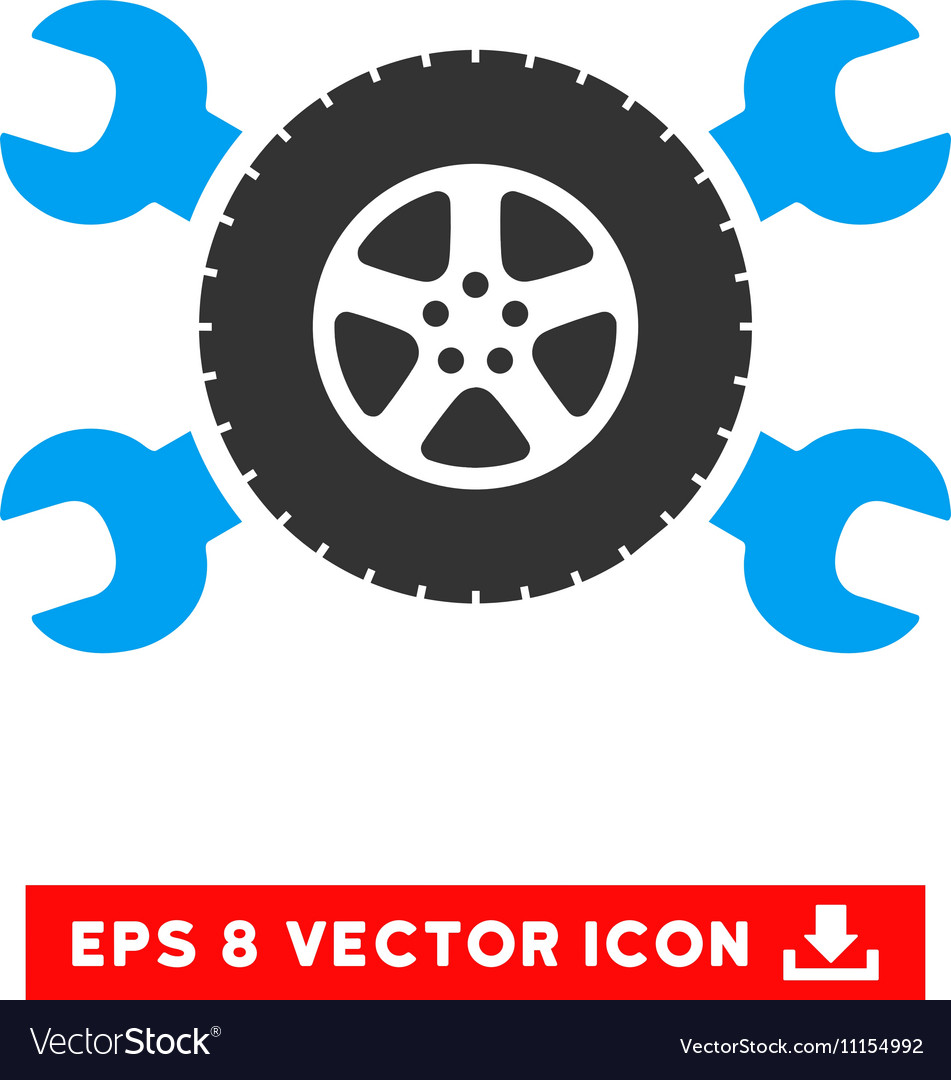 Tire Service Wrenches Eps Icon