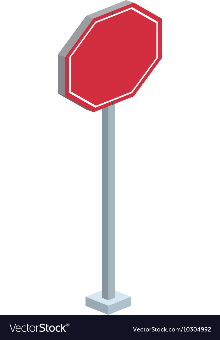 Traffic signal isometric icon
