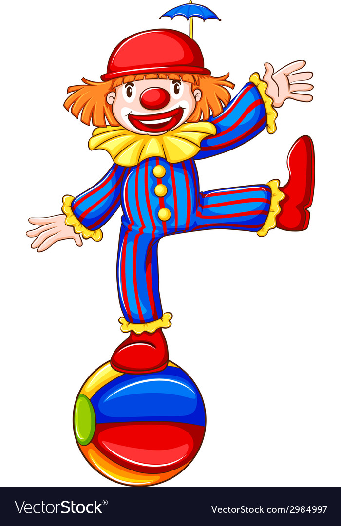 A simple drawing of a playful clown vector image