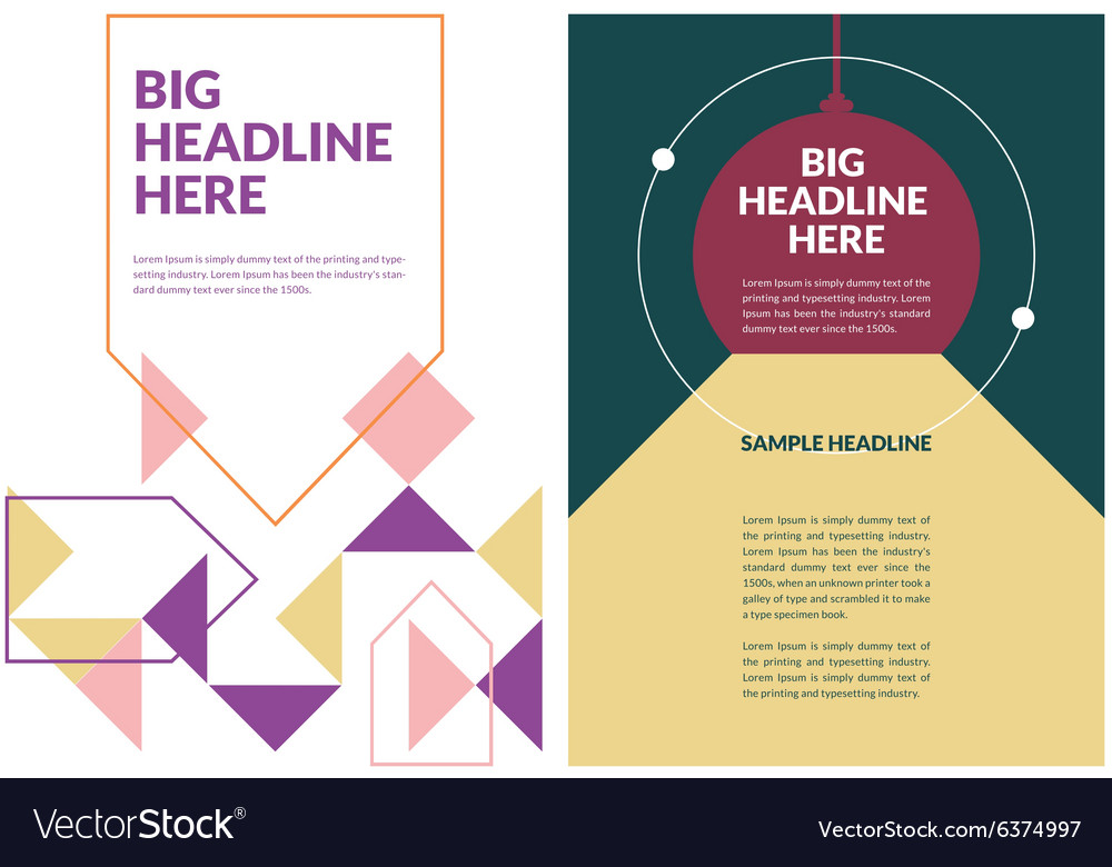 a4 brochure template royalty free vector image