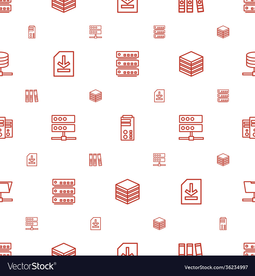 Archive icons pattern seamless white background