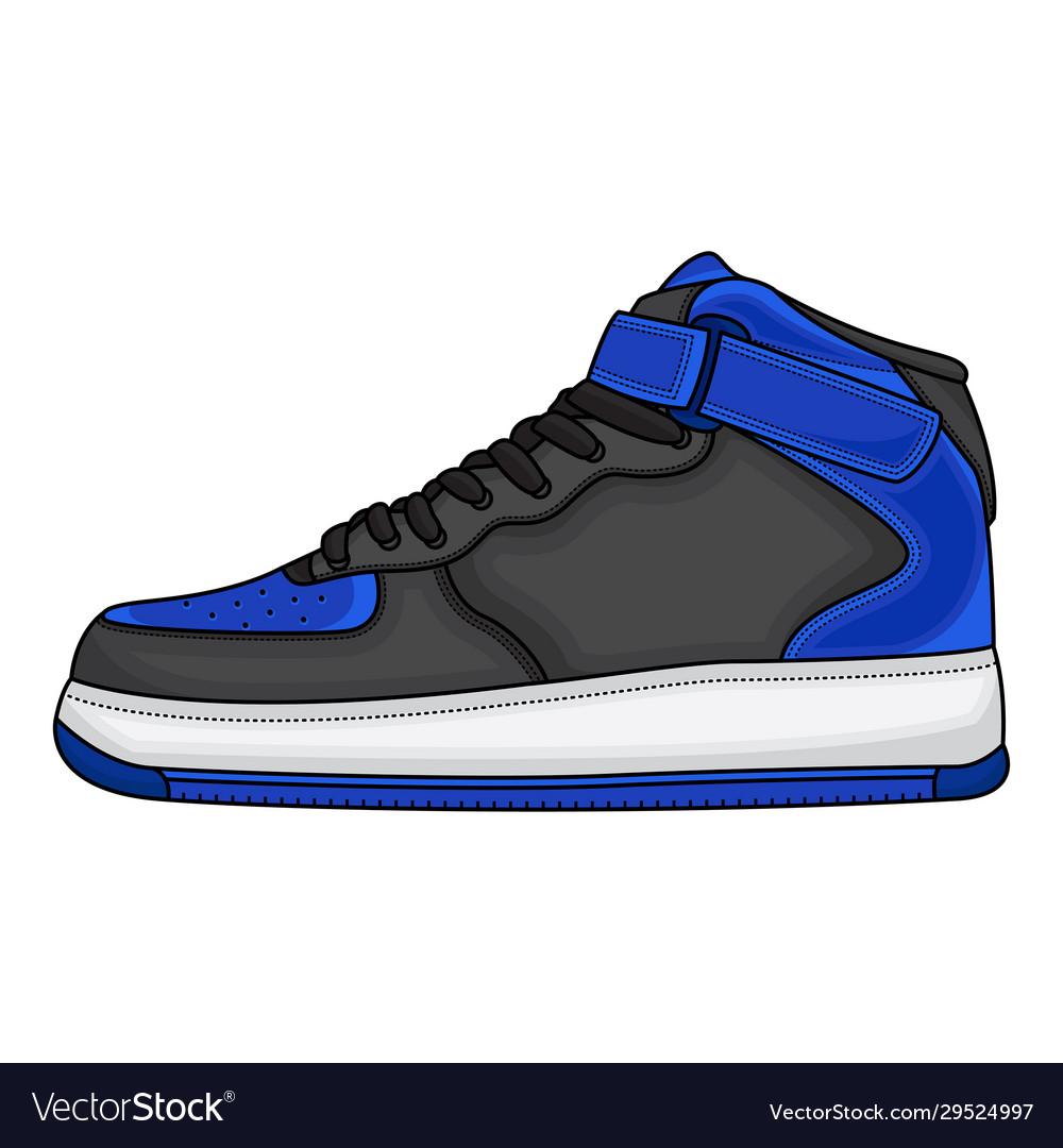 Blue basketball shoes design Royalty