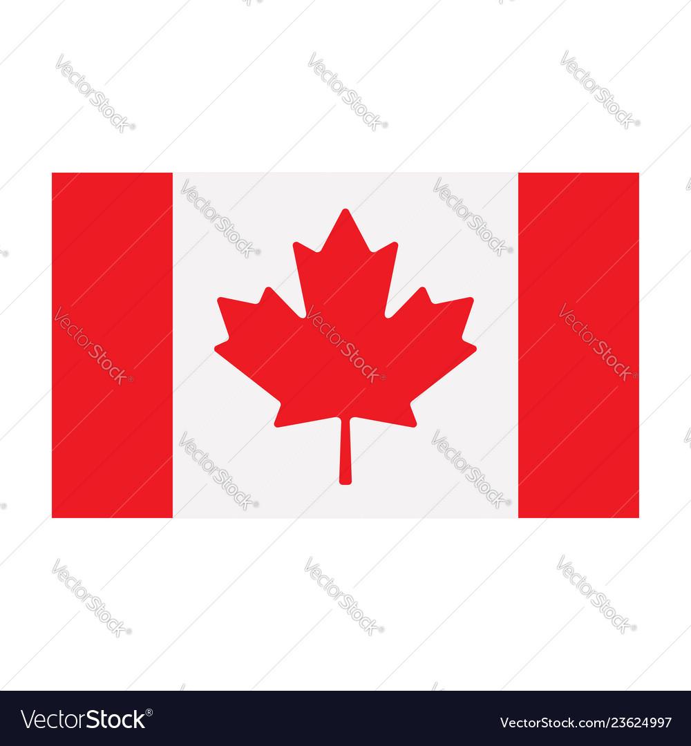 Canadian flag isolated on white background