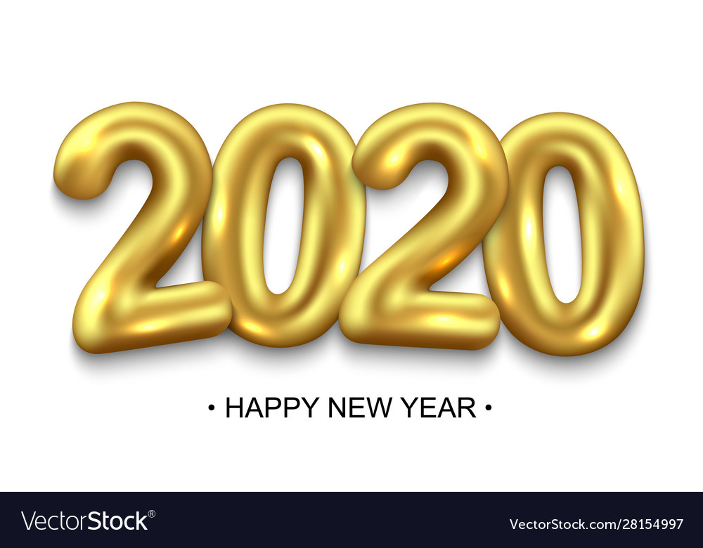 Happy new year 2020 holiday background
