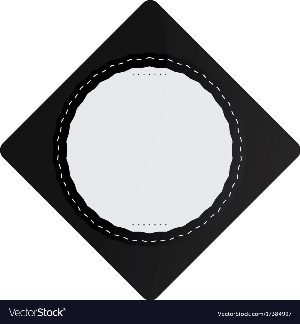 Isolated empty sale label vector image