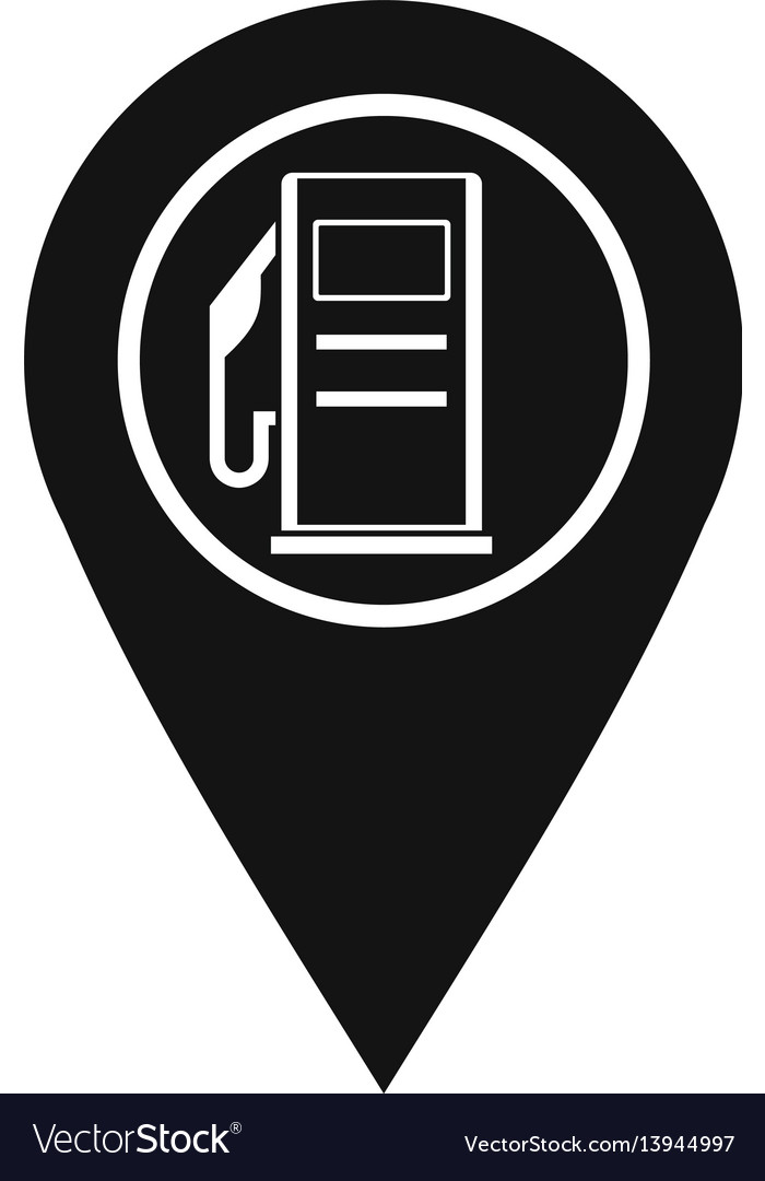 Map Pointer With Gas Station Symbol Icon Vector Image